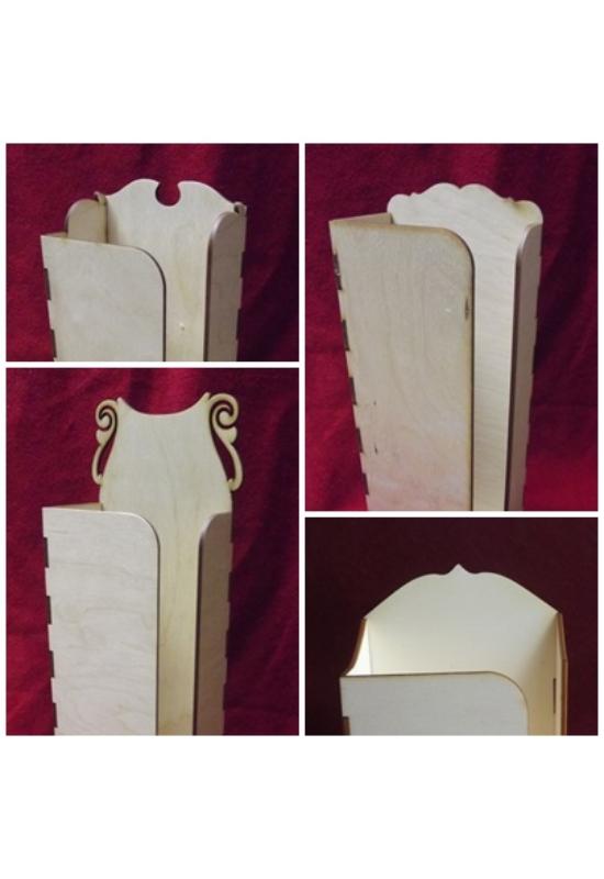 Papírzsepi tartó 100 db zsebkendőhöz több változatban lapra szerelve és összeszerelten