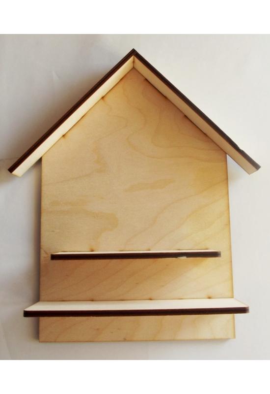 Házikó 2 polccal 200x300x6 mm