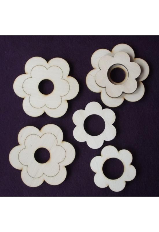 Virág alakú tojástartó