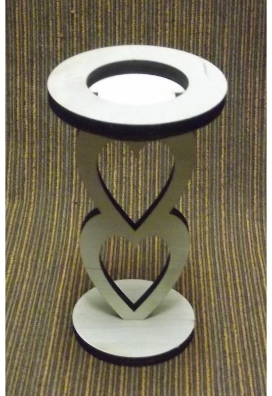 Álló szív alakú mécsestartó 50x130x6 mm