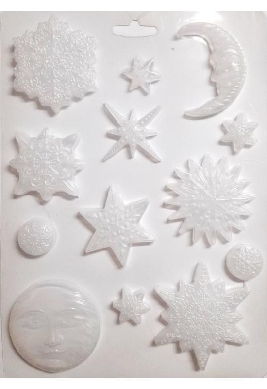 Lágy PVC Öntőforma-A4 méret-hópelyhek