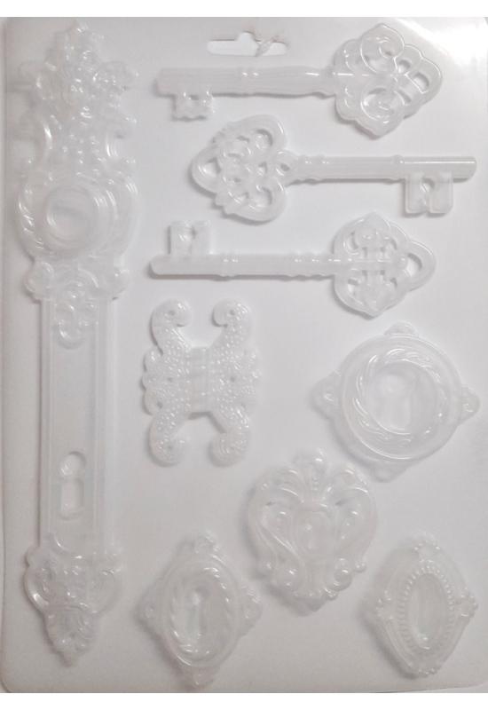 Lágy PVC Öntőforma-A4 méret-kulcsok, kulcslyukak