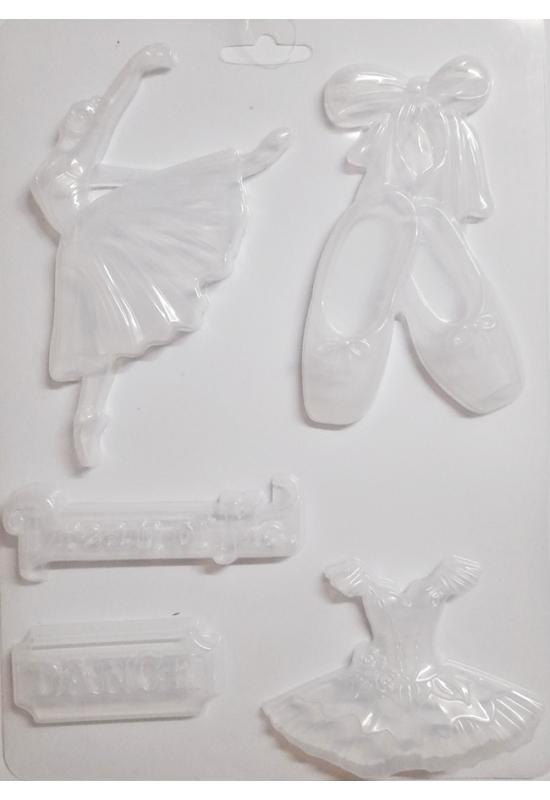 Lágy PVC Öntőforma-A4 méret-balerina