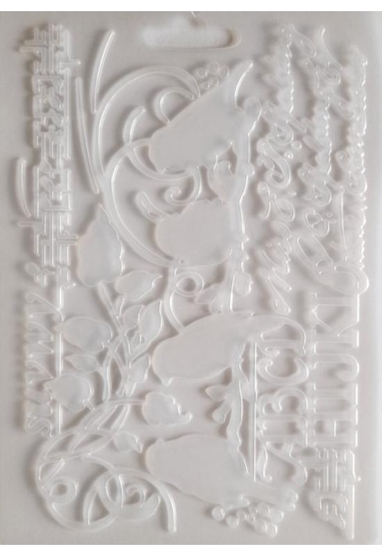 Lágy PVC Öntőforma-A5 méret-Madarak