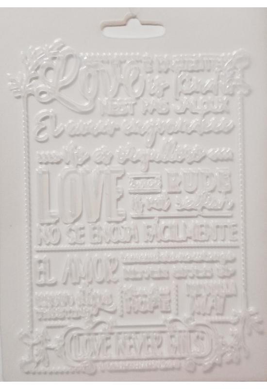 Lágy PVC Öntőforma-A5 méret-Love