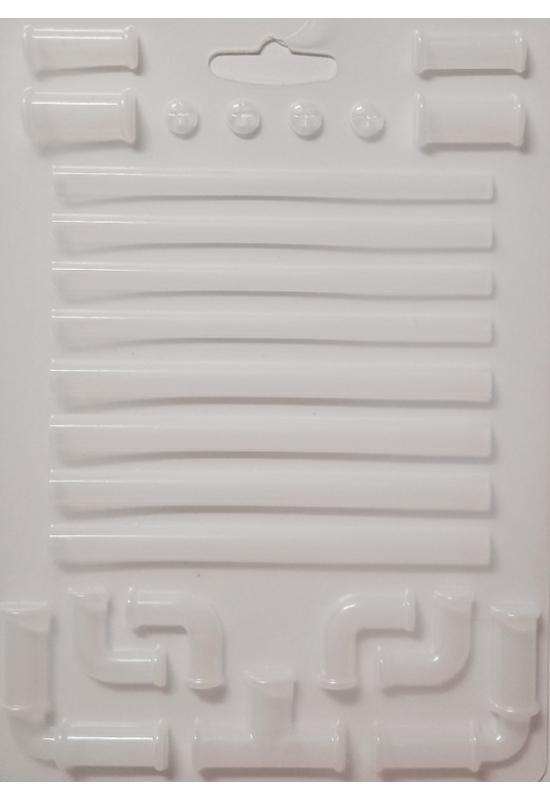 Lágy PVC Öntőforma-A5 méret-Steampunk csövek