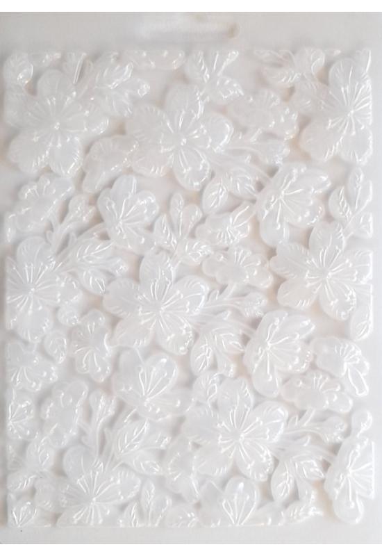 Lágy PVC Öntőforma-A5 méret-Virágok