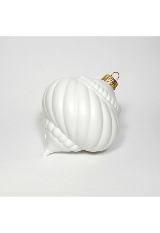 Búgócsigal fehér műanyag 10 cm
