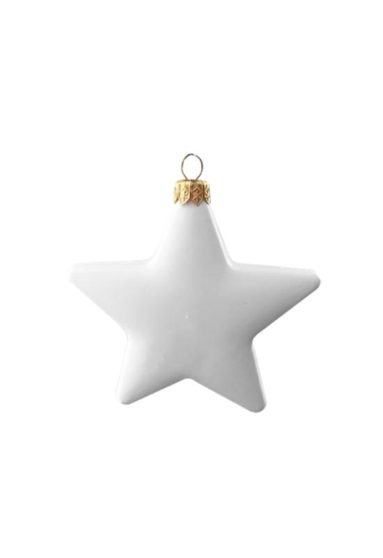 Csillag fehér műanyag 11 cm