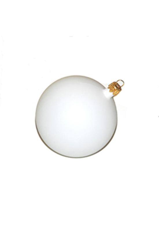 Gömb fehér műanyag 11 cm
