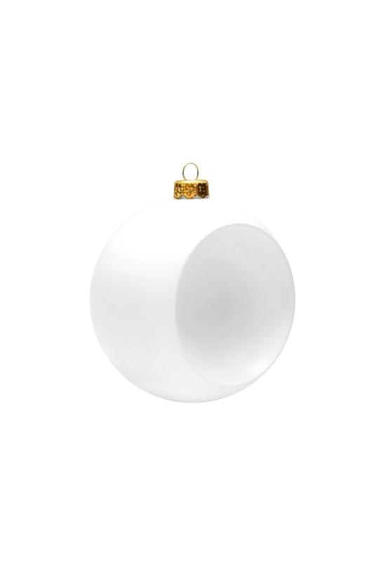 Gömb mélyedéssel fehér műanyag 9 cm