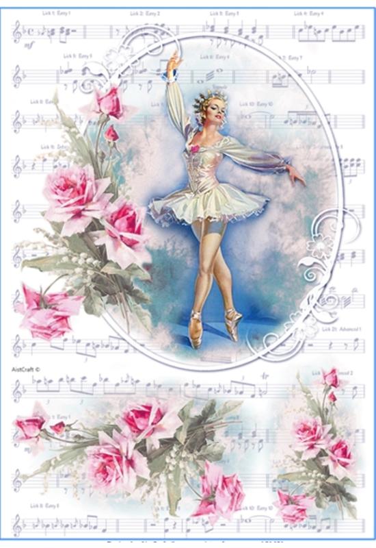 Rizspapír-balerina