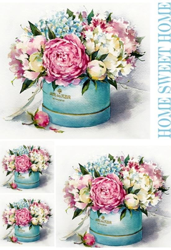 Rizspapír-virágbox