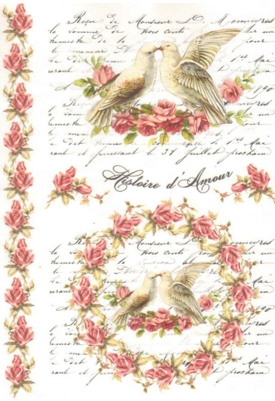 Rizspapír-galambok