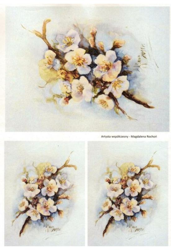 Rizspapír-virágos ág