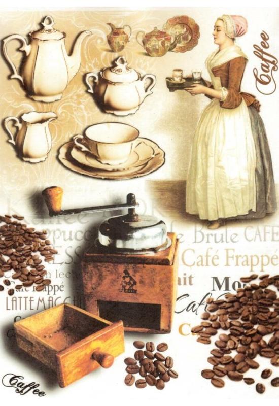 Rizspapír-Nő kávéval