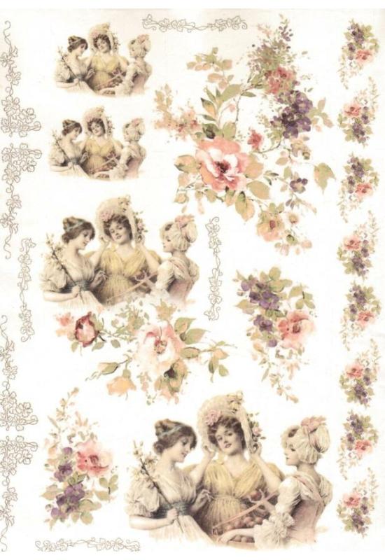 Rizspapír-Vintage nők