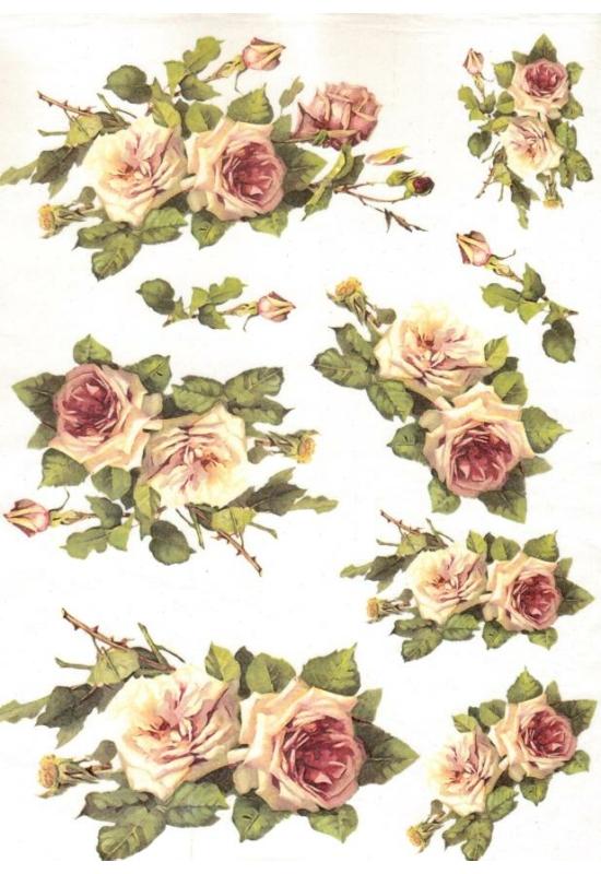 Rizspapír-rózsacsokrok
