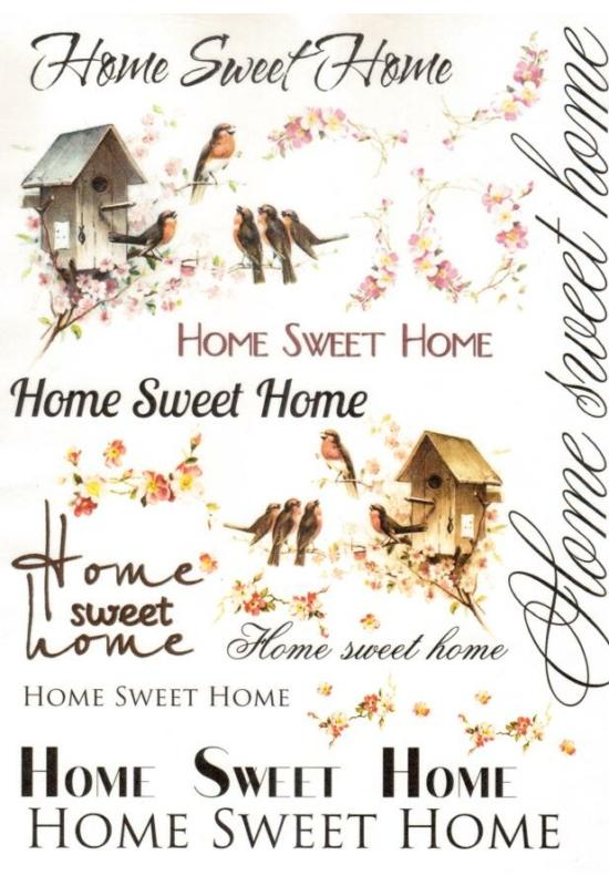 Rizspapír-Home Sweet Home