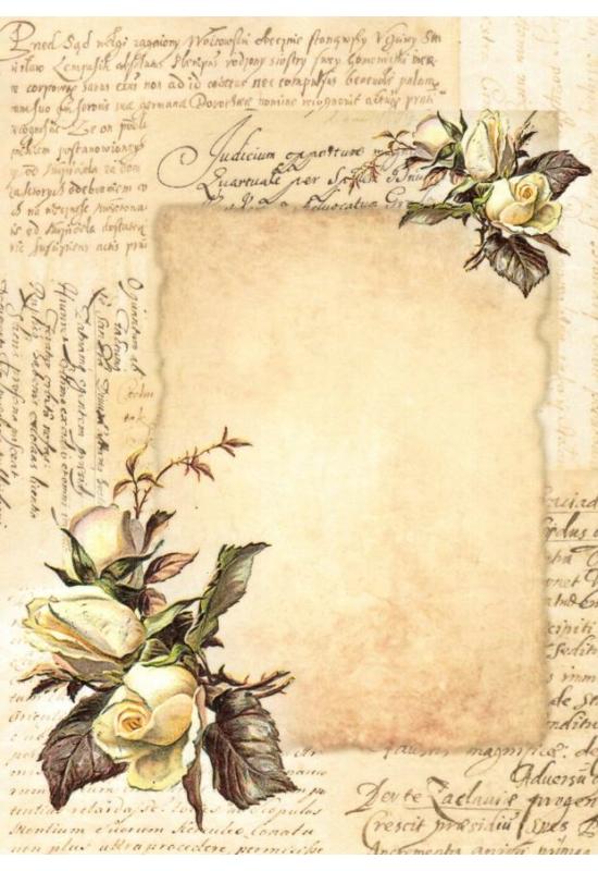 Rizspapír-rózsa, írás