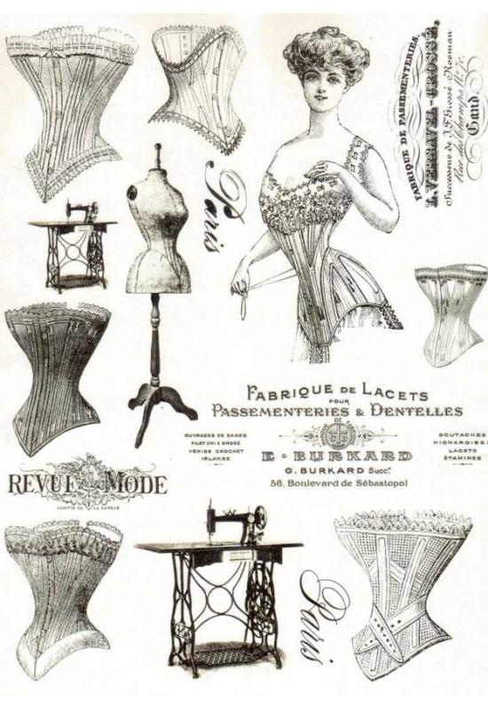 Rizspapír-nők, divat