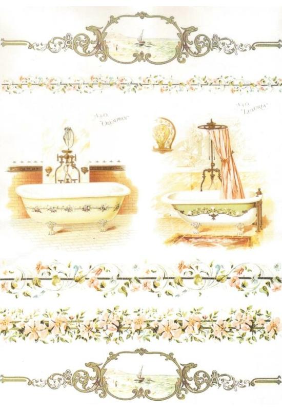 Rizspapír-fürdőszoba