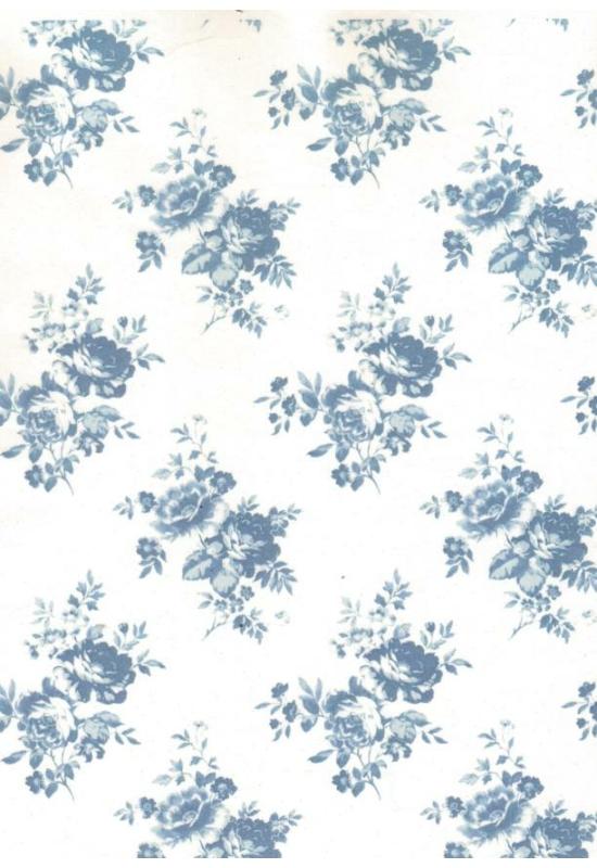 Rizspapír-kék rózsa