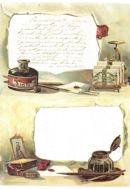 Rizspapír-toll és tinta