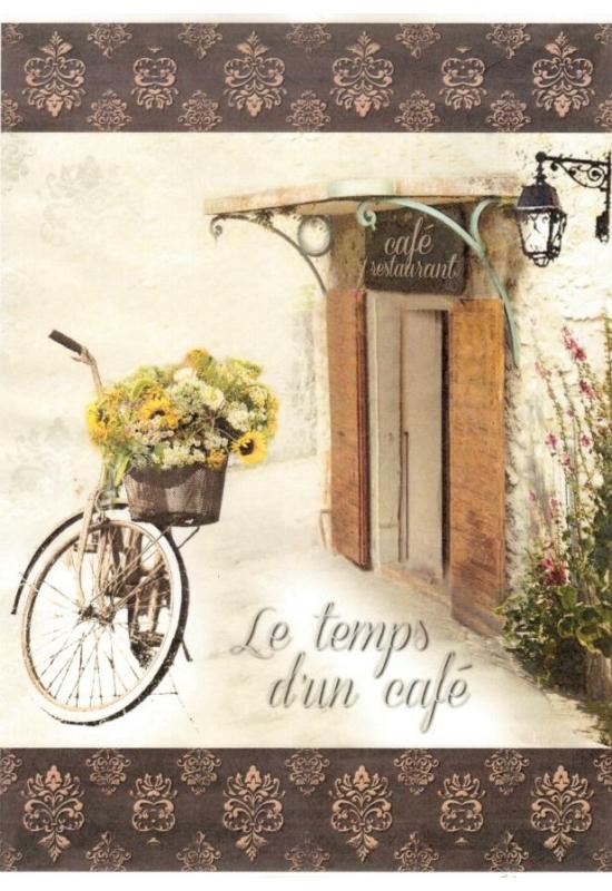 Rizspapír-Bicikli virágkosárral