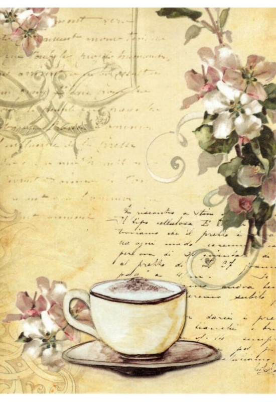 Rizspapír- kávé