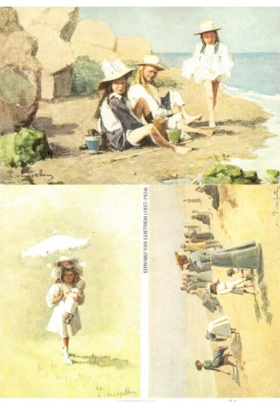 Rizspapír-Lányok tengerparton