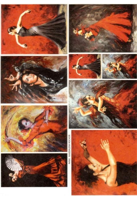Rizspapír-Táncosnők
