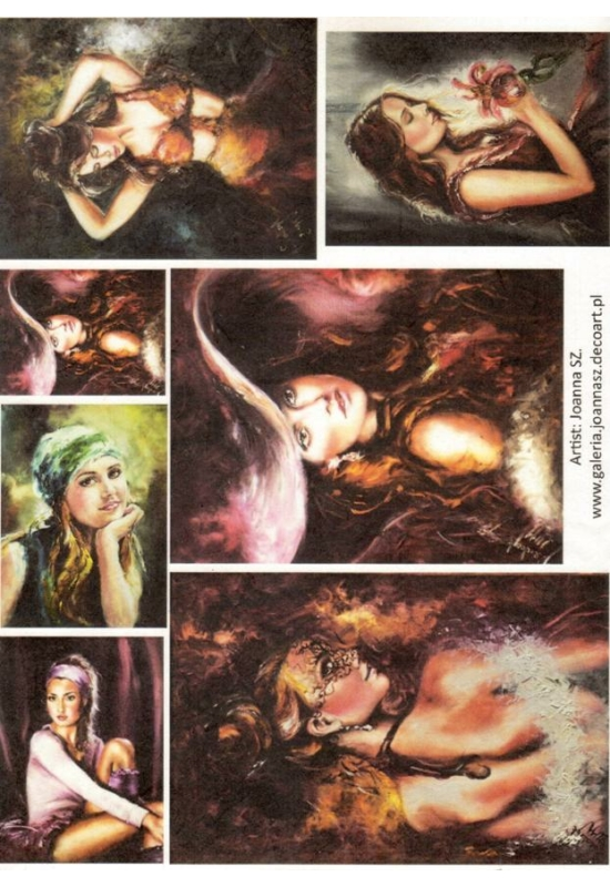 Rizspapír-Női festmények