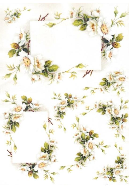 Rizspapír-virágfűzér