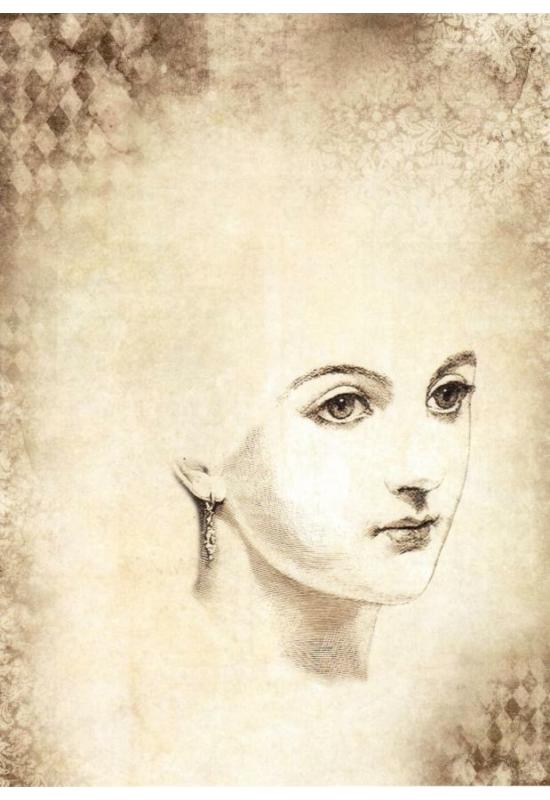 Rizspapír-Női arc