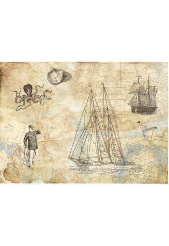 Rizspapír-hajó