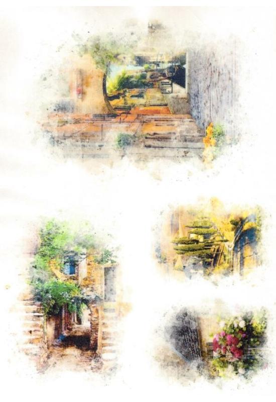 Rizspapír-ház, kert