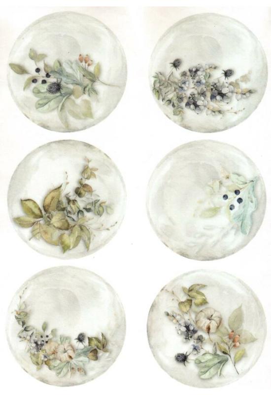 Rizspapír-virágok, bogyók