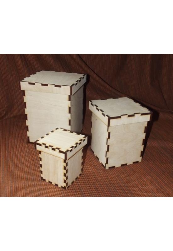 Tároló dobozok lehajló tetővel több méretben