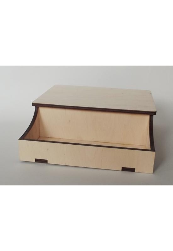 Fedeles doboz nyitott résszel 200x230x80 mm