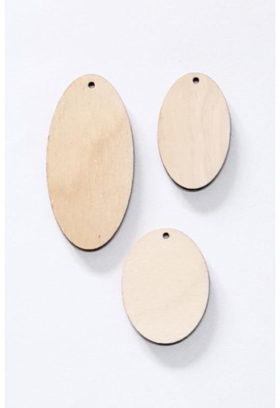 Ovális falapok 1 lyukkal több méretben 3 vagy 6 mm vastag