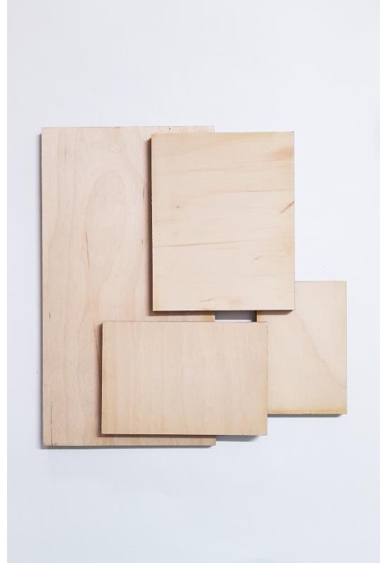 Téglalap alakú falapok több méretben - 3 mm
